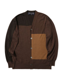 Colour blocked cardigan