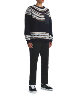 Knitted pocket sweater