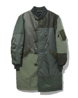 Patch bomber coat