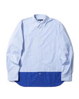 Colour blocked button-up shirt
