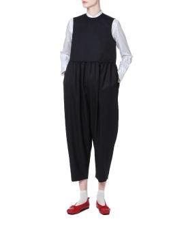 Gathered waist jumpsuit