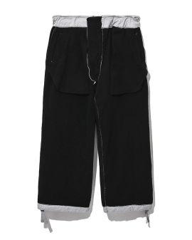 Self-tie cropped pants