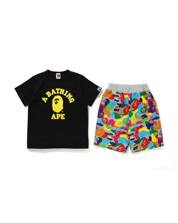 Milo ABC Multi College tee and shorts separates