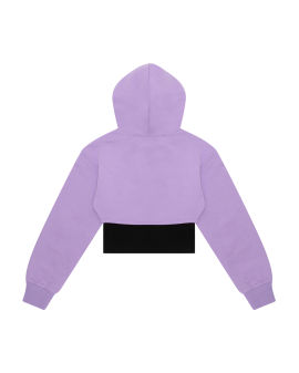 Cropped hoodie with top