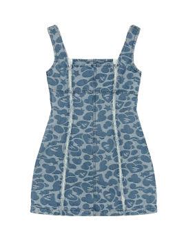 Pattern denim dress