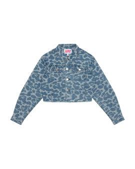 Pattern denim jacket