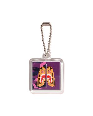 Colour Camo Tiger keychain