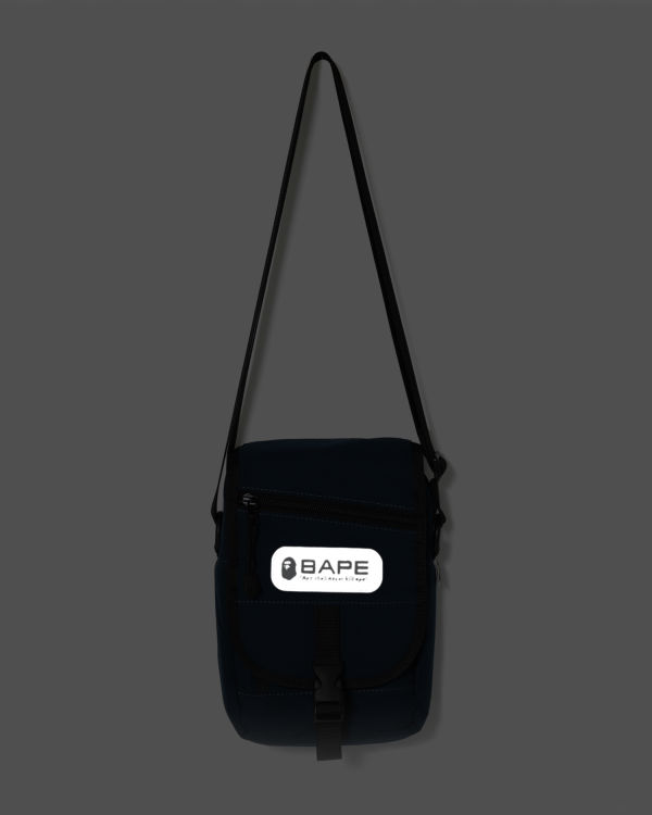 Logo patch mini shoulder bag