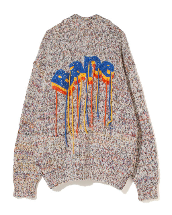 Bape Multi colour knit cardigan