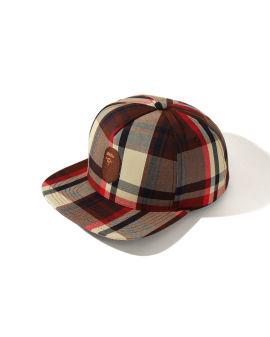Bape Check Snap Back cap