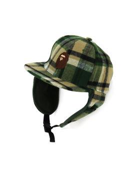 Bape Check Earmuffs Cap