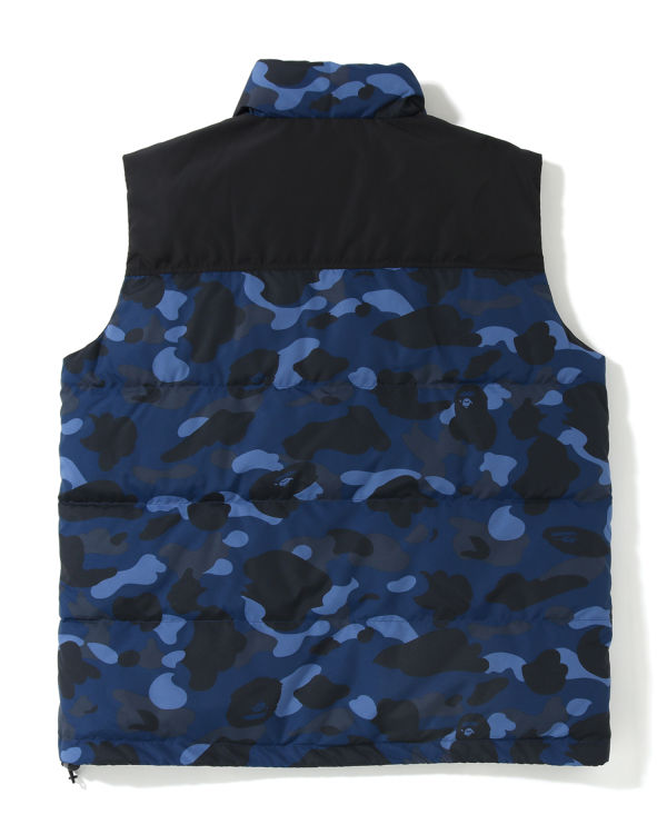 Color Camo down vest
