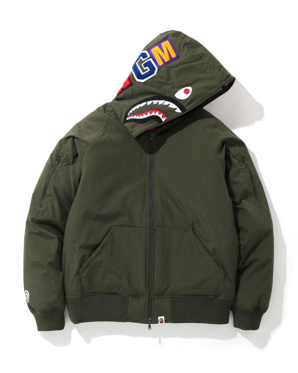 Shark hooded down jacket