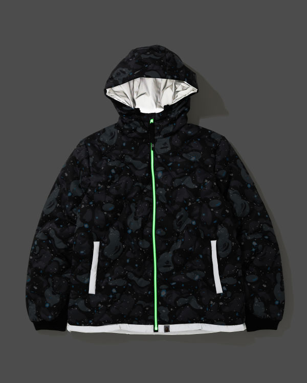 Space Camo hooded down jacket