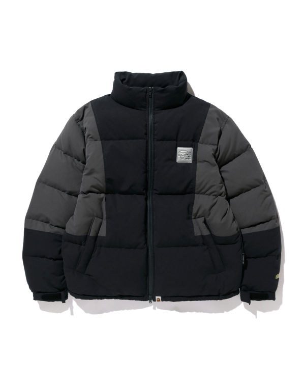 Colour Block down jacket