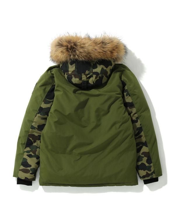 Fur down hooded jacket
