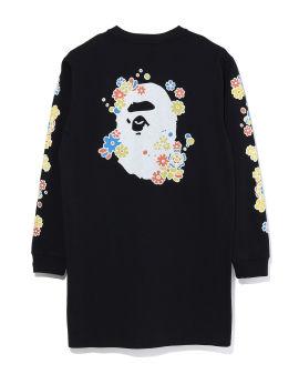 Pigment Flower Ape Head sweatshirt dress