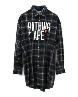 Bape Patched Waist Tuck Shirt Dress