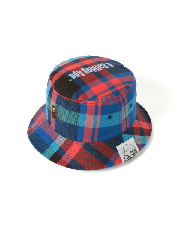 Bape Check Ape Head bucket hat
