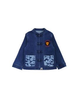 Baby Milo Patch Jersey Denim jacket