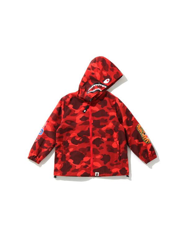 Color Camo Shark hooded jacket