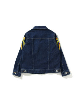 Side Shark Embroidery Denim jacket