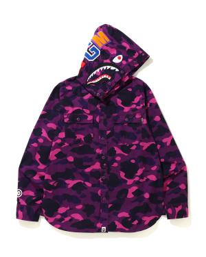 Color Camo Shark hooded shirt