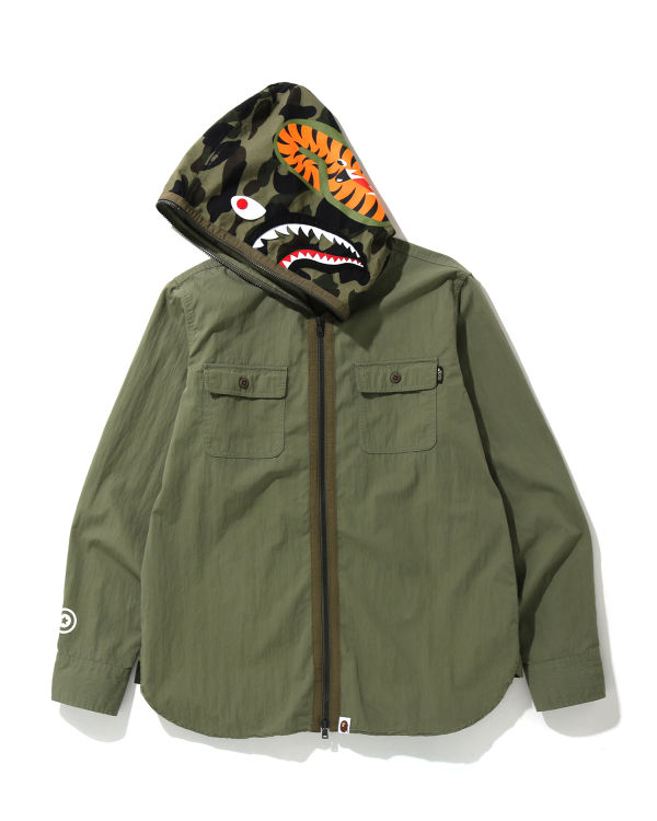 1st Camo Shark hooded shirt jacket