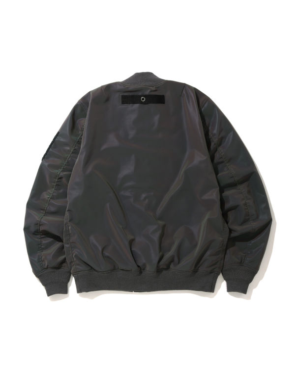 Reflector light weight bomber jacket