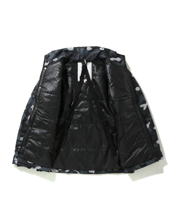 Gradation Camo Lace up jacket