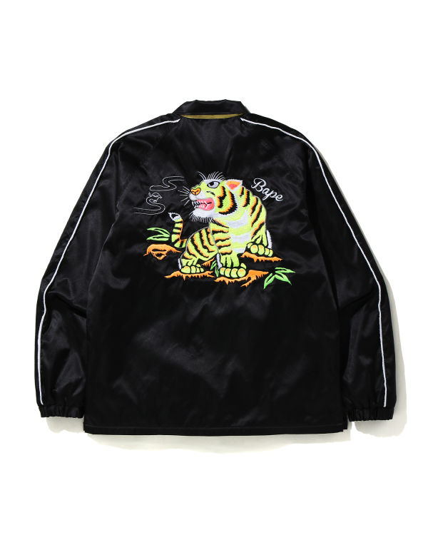 Tiger Embroidery coach jacket