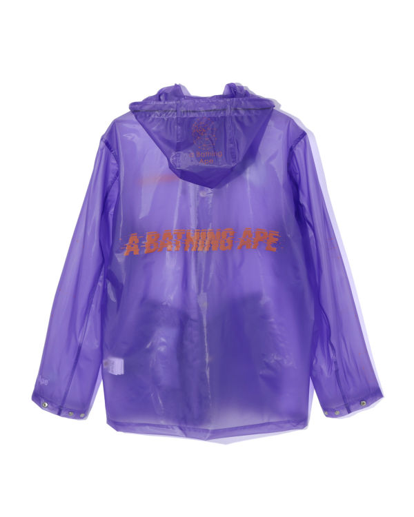 Clear hooded jacket