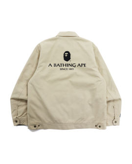 Badge Motif Zip Blouson Jacket