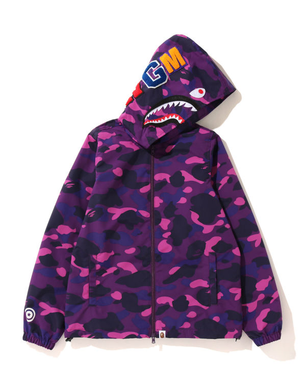 Color Camo Shark zip hoodie