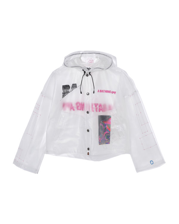 Clear wide hooded jacket