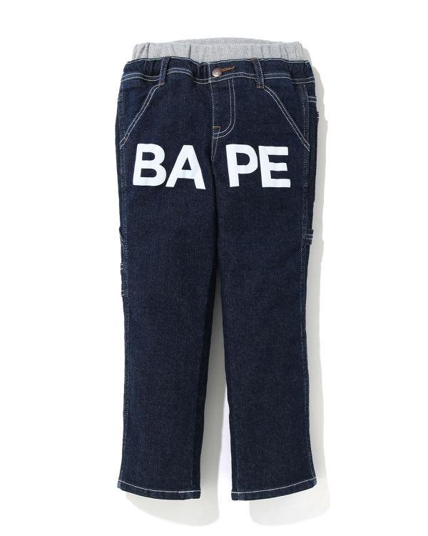 BAPE denim work pants