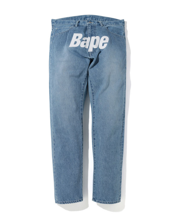 Logo tapered jeans