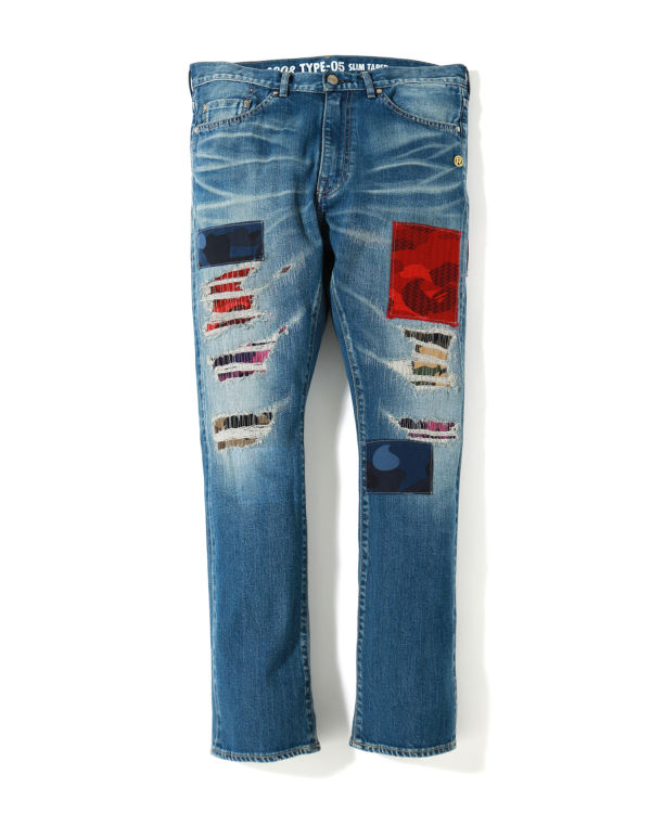 2008 Type-05 Mix Camo Patchwork jeans