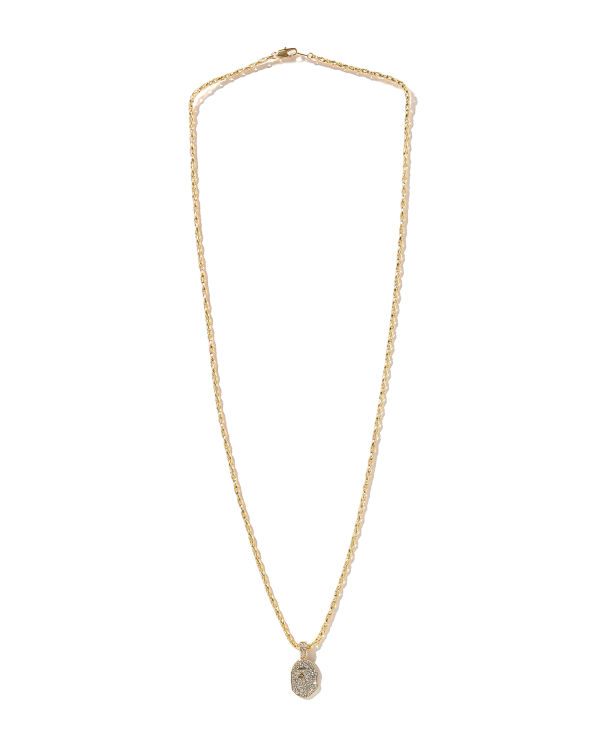 Rhinestone Ape Head necklace