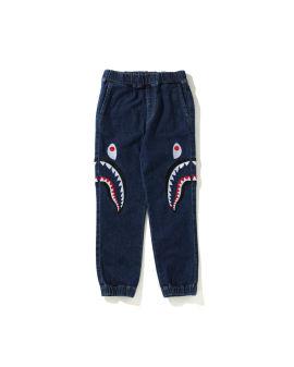Side Shark Embroidery Dama jeans