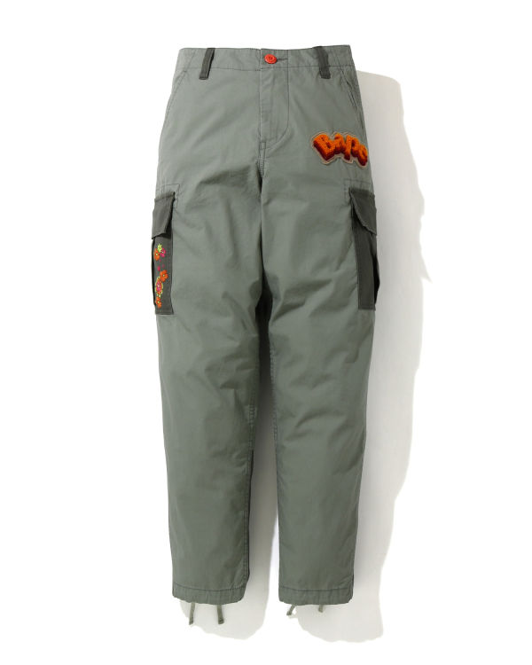 ABC Flower Patchwork 6 pocket pants