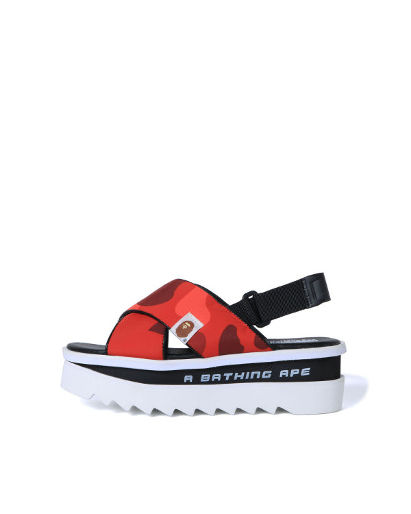 Colour Camo platform sandals