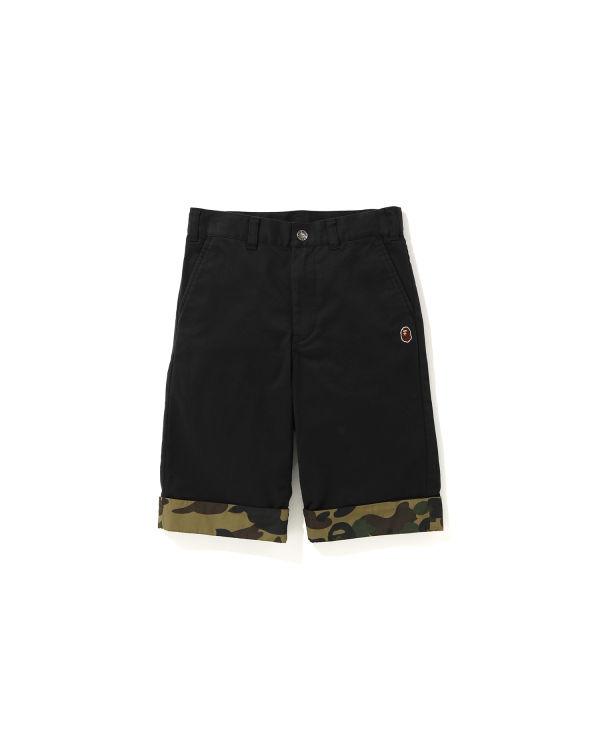 1st Camo trim chino shorts