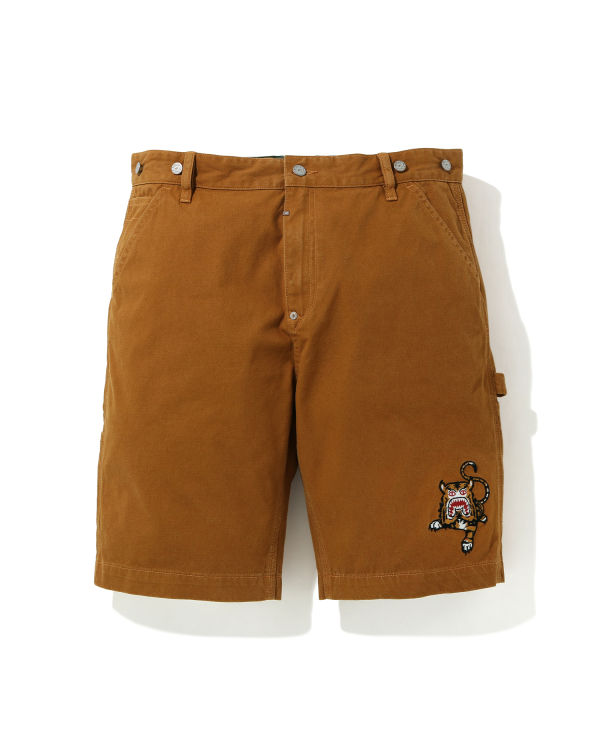 Tiger embroidered chino shorts