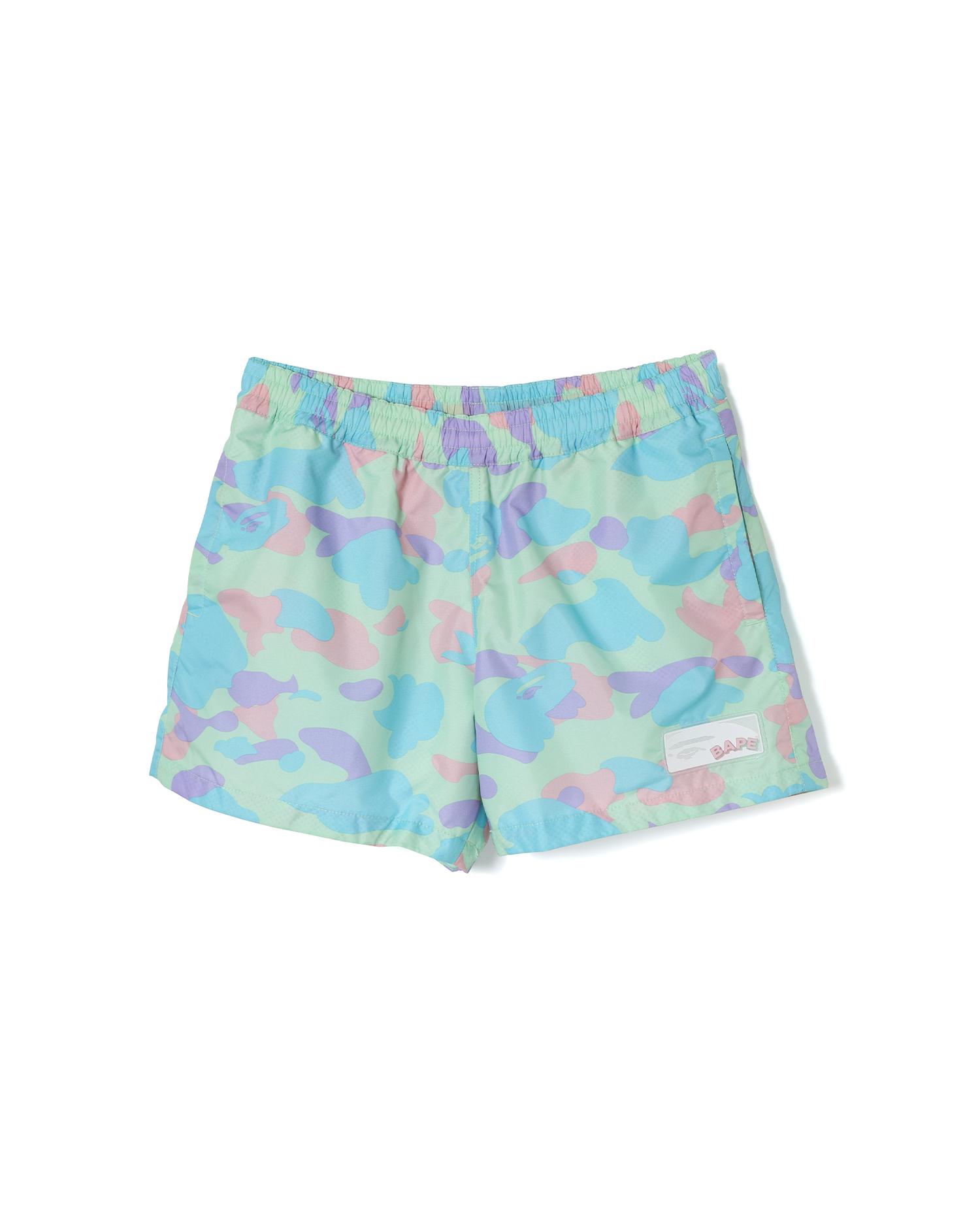 A BATHING APE   Pastel Multi Camo Shorts   Goxip