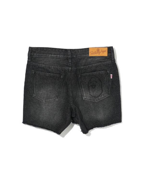 Ape Head denim shorts