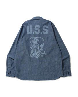 Blue Ribbon Patch Chambray shirt