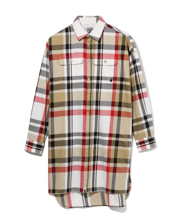 Bape Check Long shirt