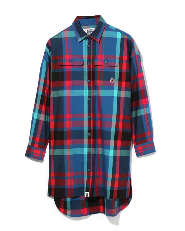 Bape Check Long shirt