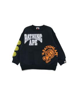 Multi Baby Milo Print Loose Fit Crewneck Sweatshirt